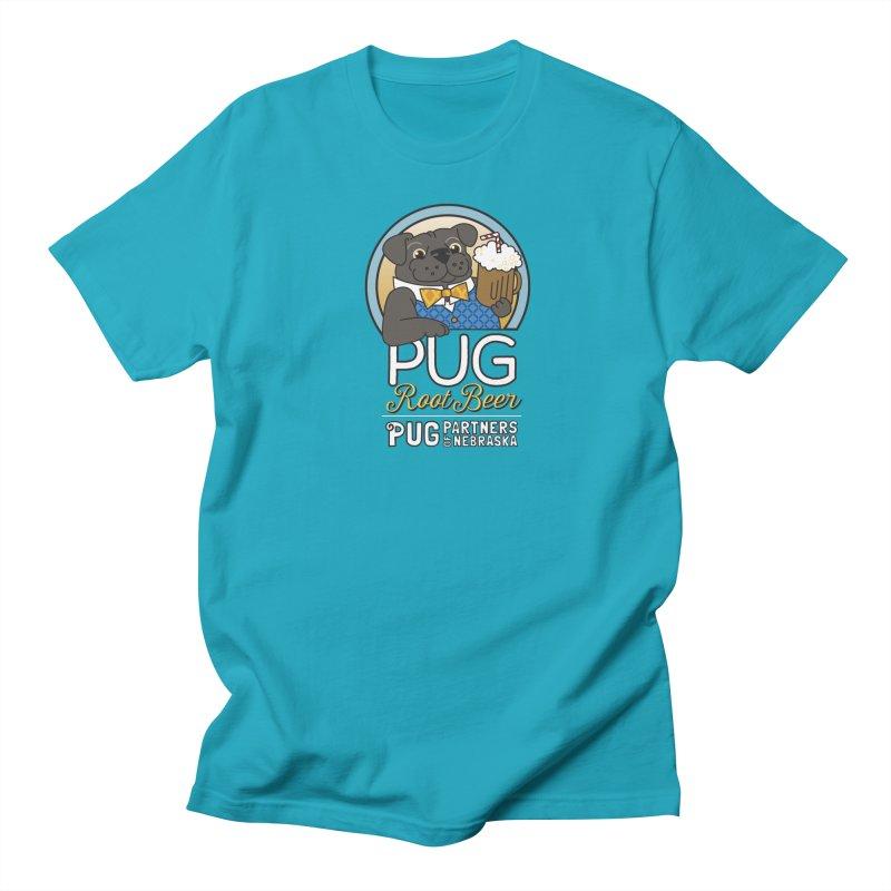 Pug Root Beer - Blue Women's Regular Unisex T-Shirt by Pug Partners of Nebraska