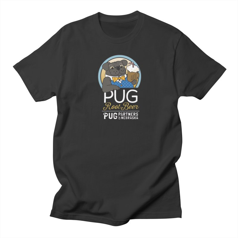 Pug Root Beer - Blue Women's Regular Unisex T-Shirt by Pug Partners of Nebraska