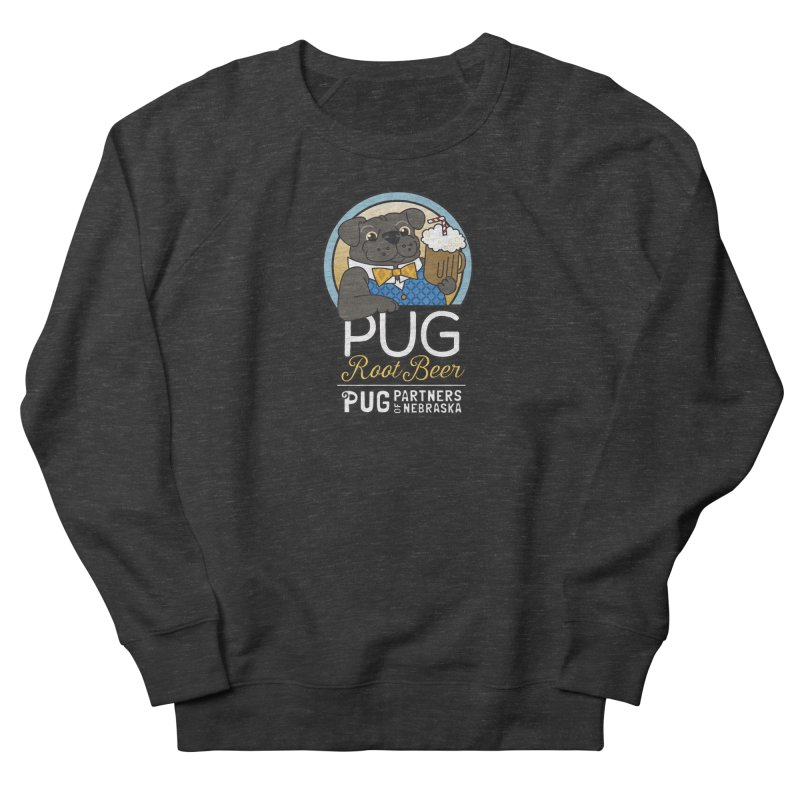 Pug Root Beer - Blue Women's French Terry Sweatshirt by Pug Partners of Nebraska