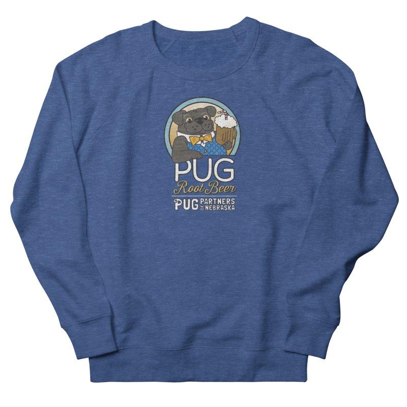 Pug Root Beer - Blue Women's Sweatshirt by Pug Partners of Nebraska