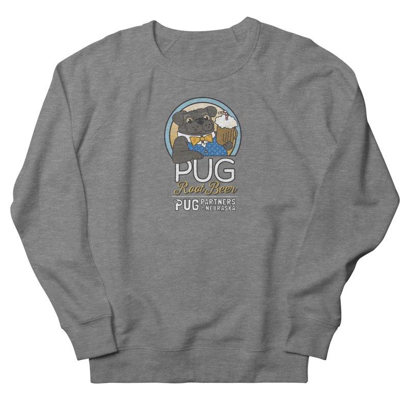 Pug Root Beer - Blue Men's French Terry Sweatshirt by Pug Partners of Nebraska