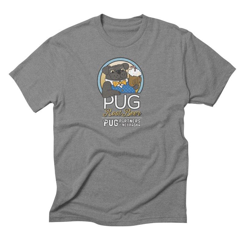 Pug Root Beer - Blue Men's Triblend T-Shirt by Pug Partners of Nebraska