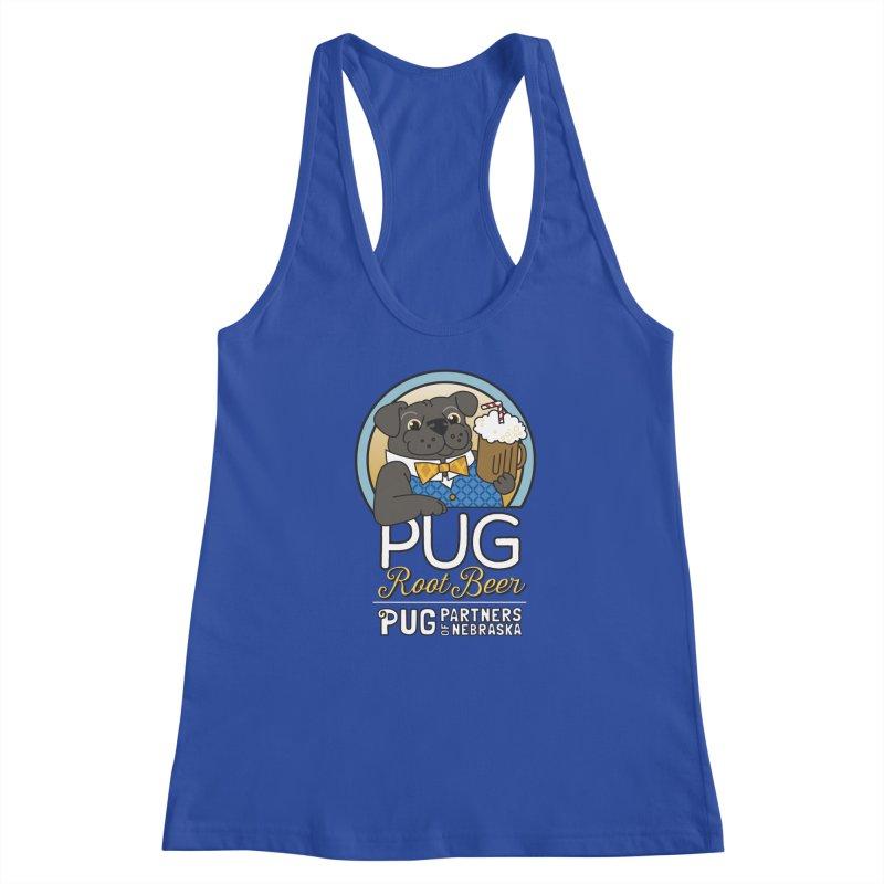 Pug Root Beer - Blue Women's Tank by Pug Partners of Nebraska