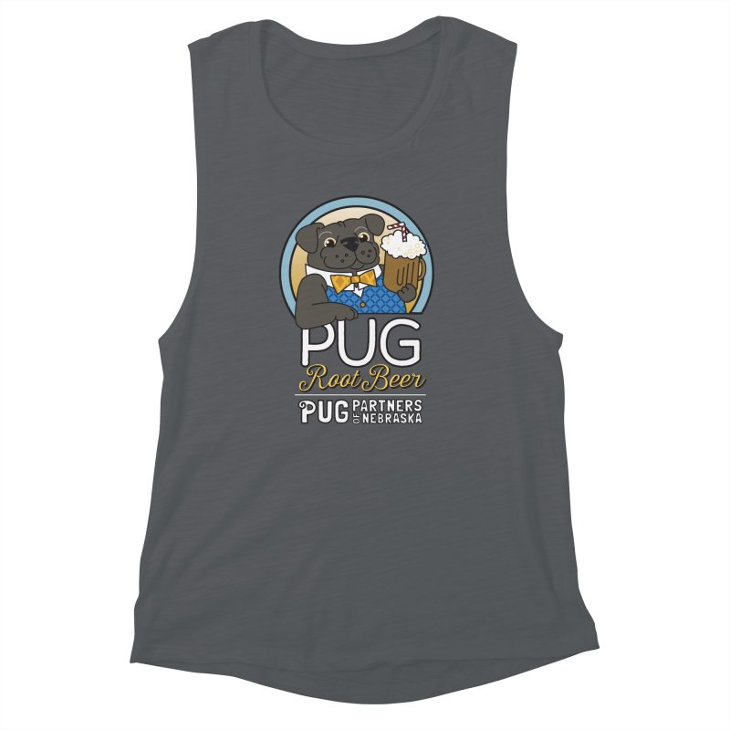 Pug Root Beer - Blue Women's Tank by Pug Partners of Nebraska
