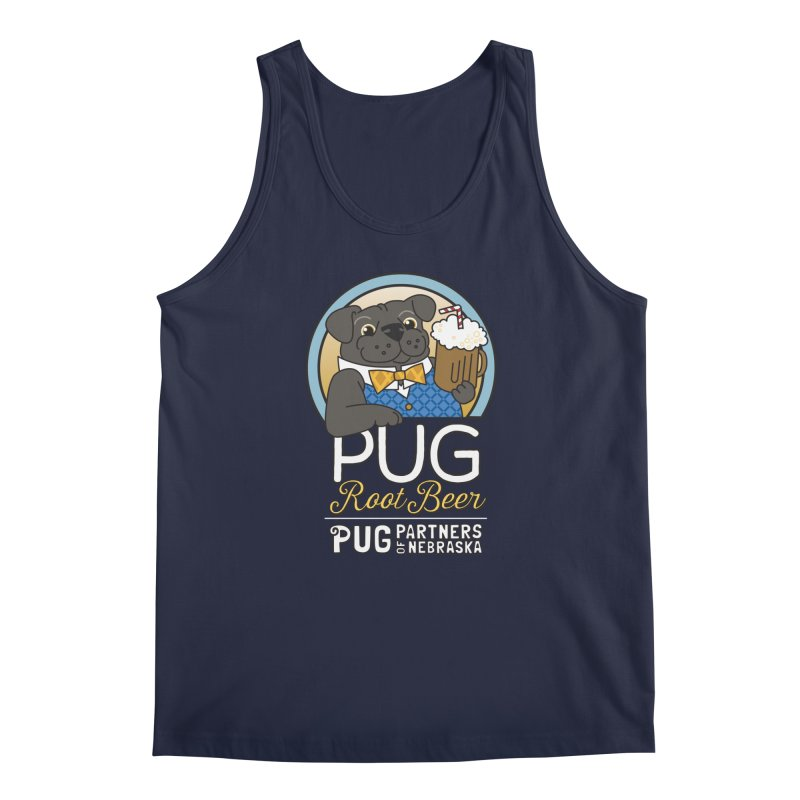 Pug Root Beer - Blue Men's Regular Tank by Pug Partners of Nebraska