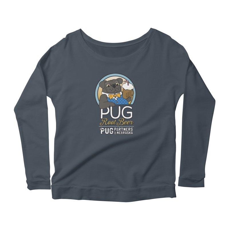 Pug Root Beer - Blue Women's Longsleeve T-Shirt by Pug Partners of Nebraska