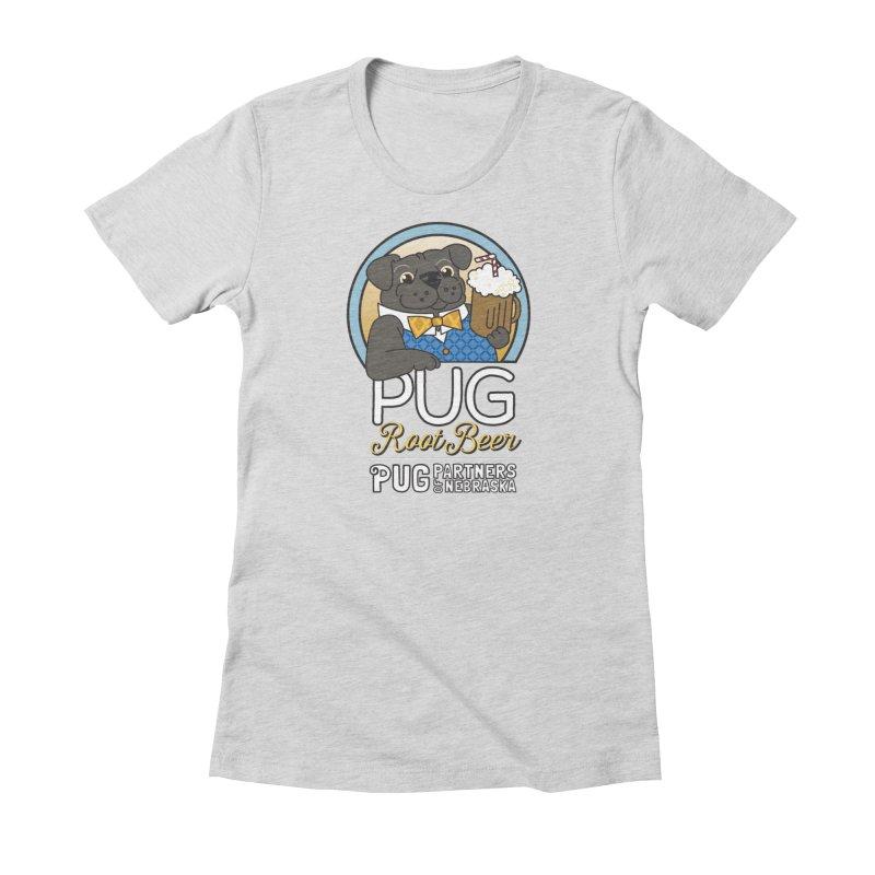 Pug Root Beer - Blue Women's T-Shirt by Pug Partners of Nebraska