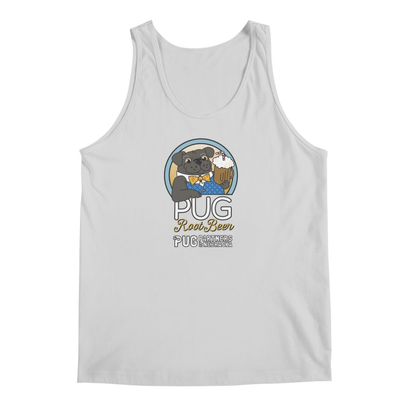 Pug Root Beer - Blue Men's Regular Tank by Pug Partners of Nebraska