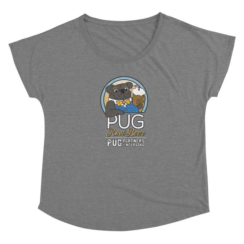 Pug Root Beer - Blue Women's Scoop Neck by Pug Partners of Nebraska