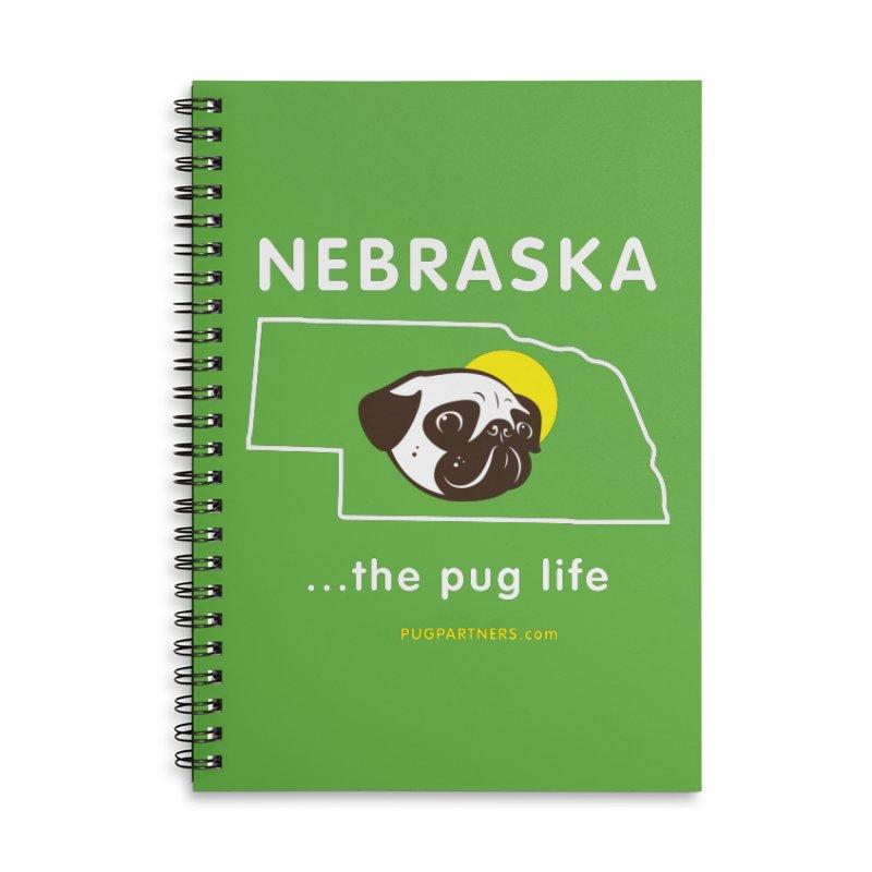 Nebraska: The Pug Life Accessories Notebook by Pug Partners of Nebraska
