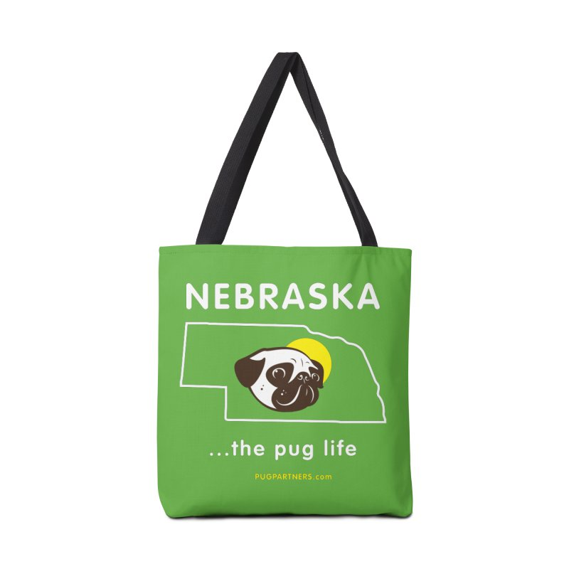 Nebraska: The Pug Life Accessories Tote Bag Bag by Pug Partners of Nebraska