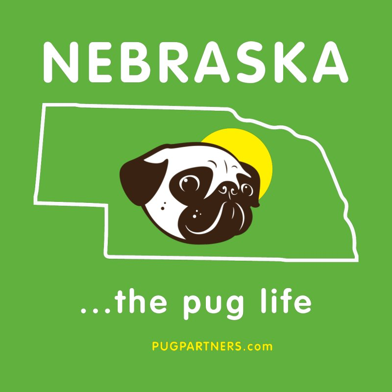 Nebraska: The Pug Life Men's Zip-Up Hoody by Pug Partners of Nebraska