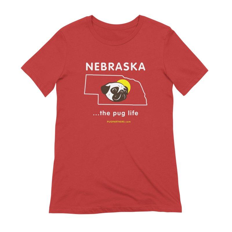 Nebraska: The Pug Life Women's Extra Soft T-Shirt by Pug Partners of Nebraska