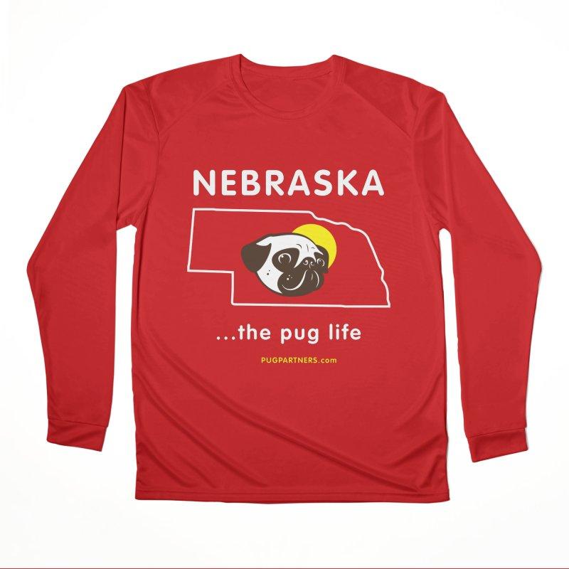 Nebraska: The Pug Life Men's Longsleeve T-Shirt by Pug Partners of Nebraska