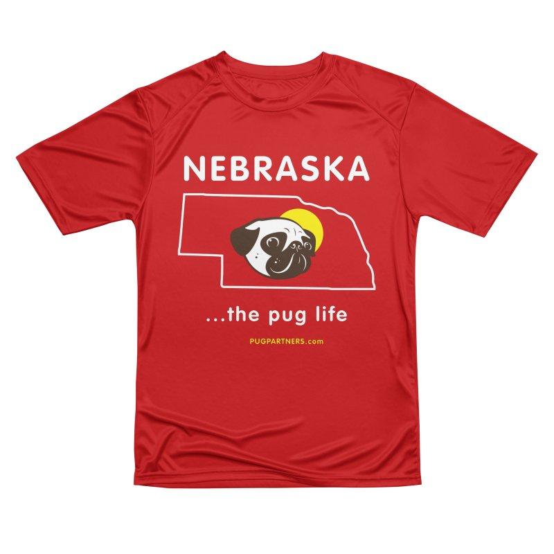 Nebraska: The Pug Life Men's Performance T-Shirt by Pug Partners of Nebraska
