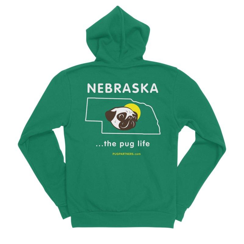 Nebraska: The Pug Life Women's Sponge Fleece Zip-Up Hoody by Pug Partners of Nebraska
