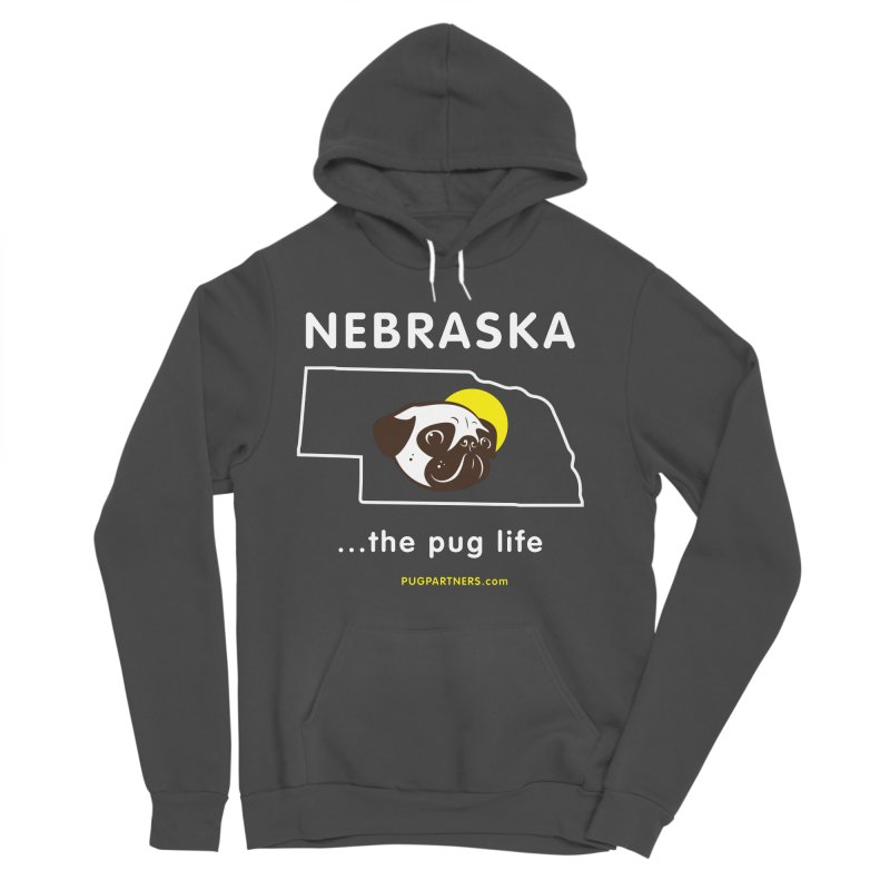 Nebraska: The Pug Life Women's Sponge Fleece Pullover Hoody by Pug Partners of Nebraska