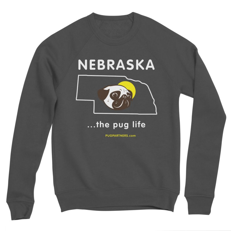Nebraska: The Pug Life Men's Sponge Fleece Sweatshirt by Pug Partners of Nebraska