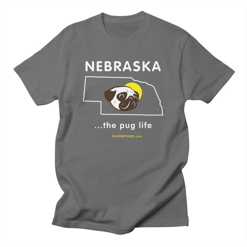 Nebraska: The Pug Life Men's T-Shirt by Pug Partners of Nebraska