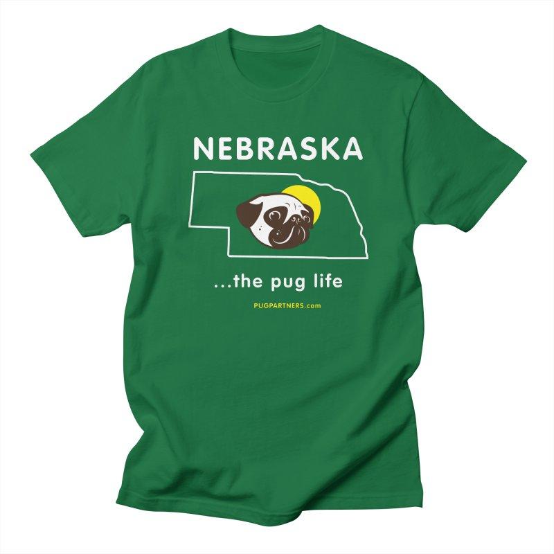 Nebraska: The Pug Life Women's Regular Unisex T-Shirt by Pug Partners of Nebraska