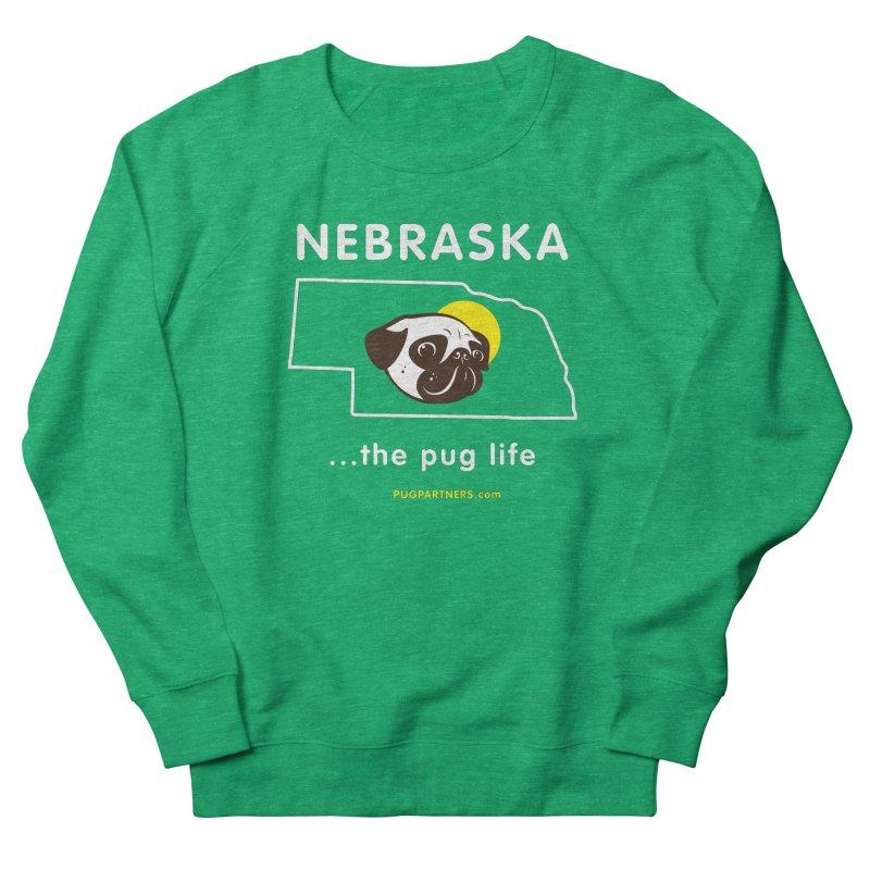 Nebraska: The Pug Life Women's French Terry Sweatshirt by Pug Partners of Nebraska