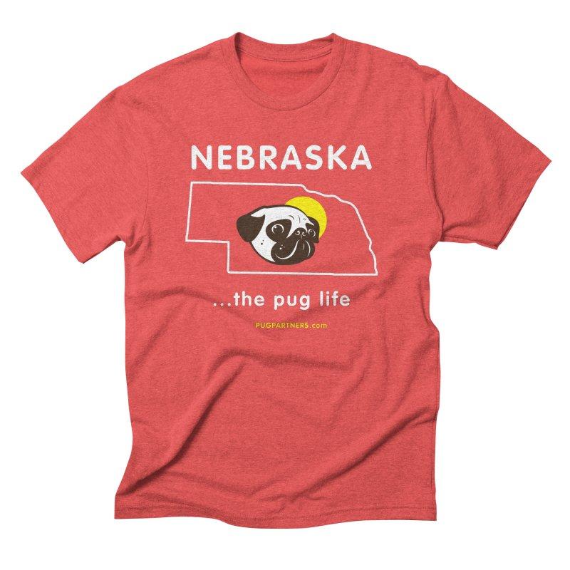 Nebraska: The Pug Life Men's Triblend T-Shirt by Pug Partners of Nebraska