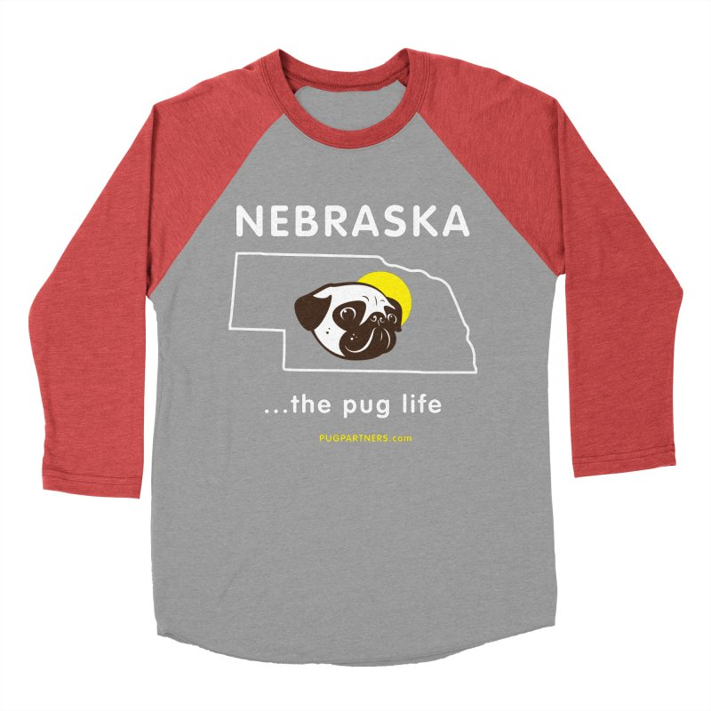 Nebraska: The Pug Life Women's Baseball Triblend Longsleeve T-Shirt by Pug Partners of Nebraska