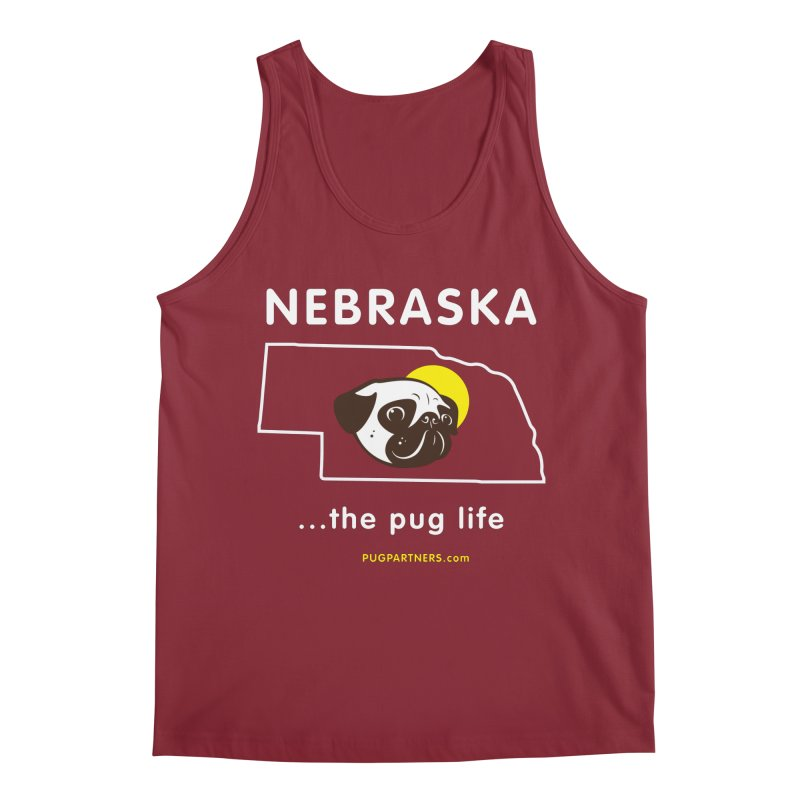 Nebraska: The Pug Life Men's Tank by Pug Partners of Nebraska