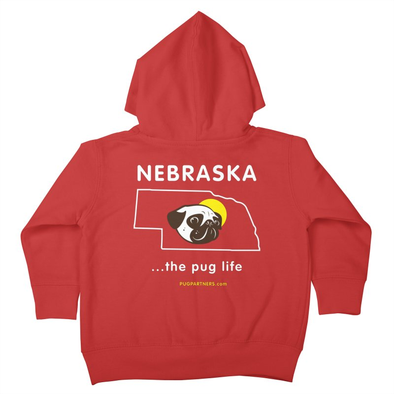 Nebraska: The Pug Life Kids Toddler Zip-Up Hoody by Pug Partners of Nebraska