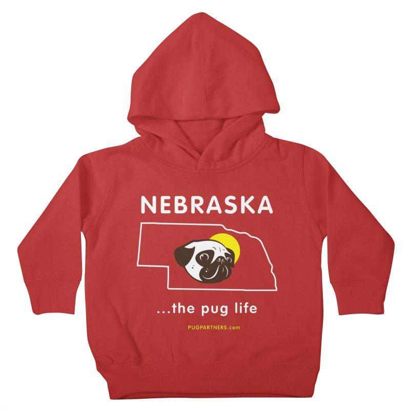 Nebraska: The Pug Life Kids Toddler Pullover Hoody by Pug Partners of Nebraska