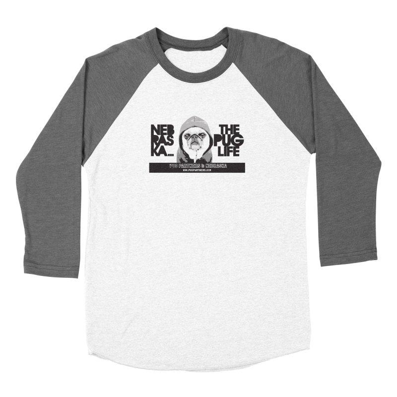 The Pug Life Men's Baseball Triblend Longsleeve T-Shirt by Pug Partners of Nebraska