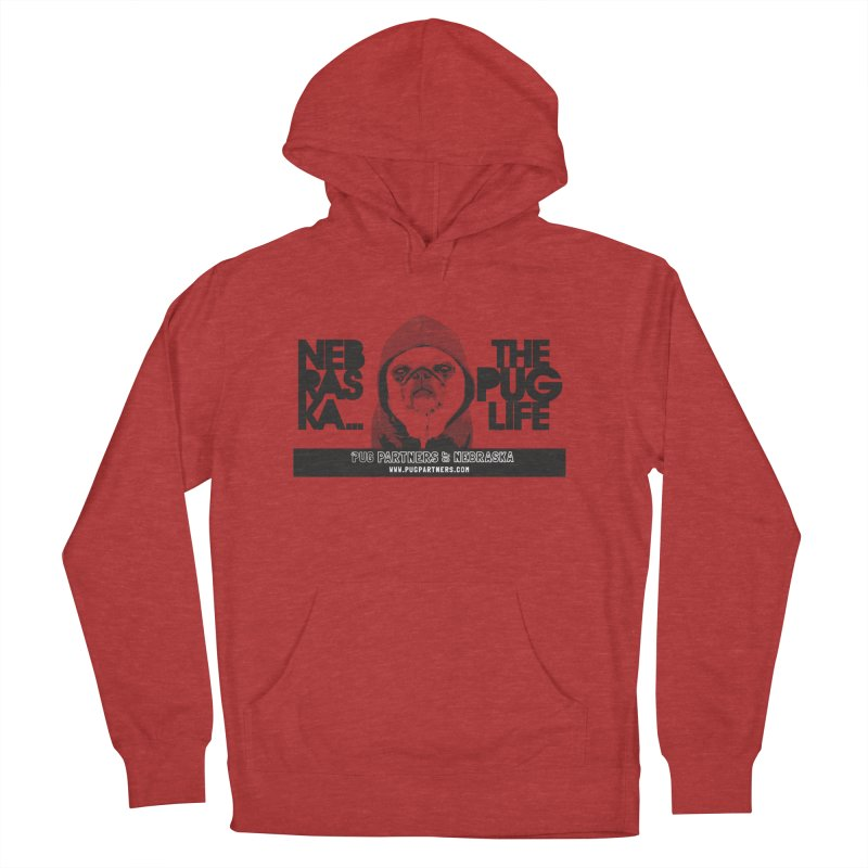 The Pug Life Men's French Terry Pullover Hoody by Pug Partners of Nebraska