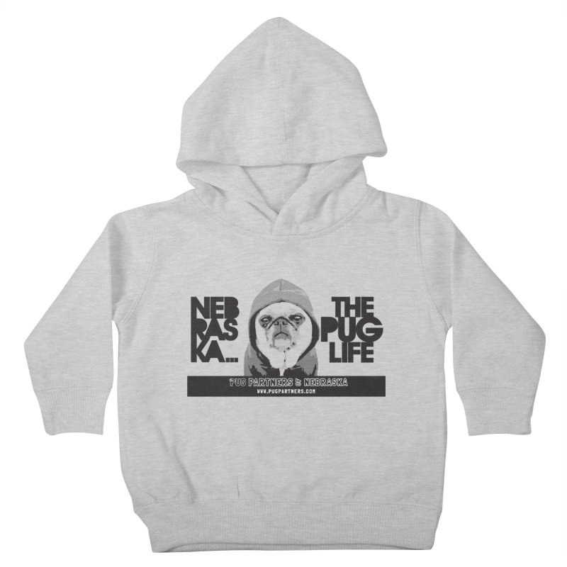 The Pug Life Kids Toddler Pullover Hoody by Pug Partners of Nebraska