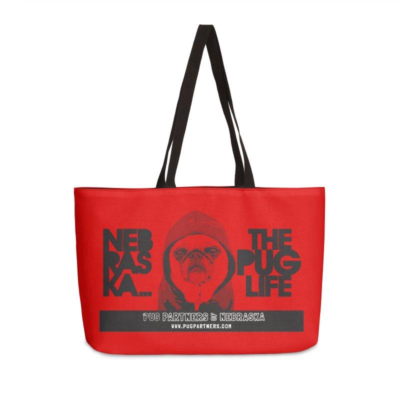 The Pug Life Accessories Weekender Bag Bag by Pug Partners of Nebraska