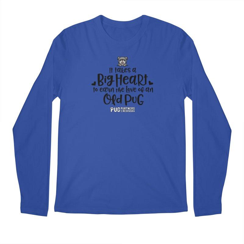 Big Heart for an Old Pug Men's Regular Longsleeve T-Shirt by Pug Partners of Nebraska