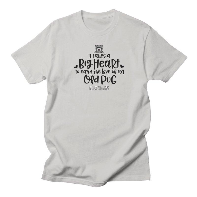 Big Heart for an Old Pug Men's Regular T-Shirt by Pug Partners of Nebraska