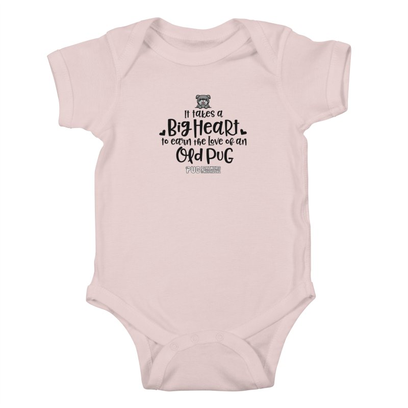 Big Heart for an Old Pug Kids Baby Bodysuit by Pug Partners of Nebraska