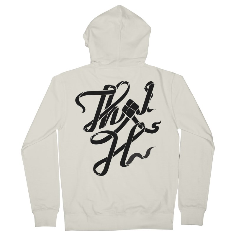 Thai H Women's French Terry Zip-Up Hoody by pugpug's Artist Shop