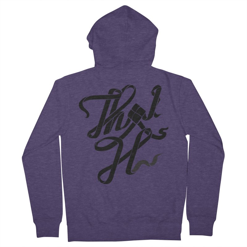 Thai H Men's French Terry Zip-Up Hoody by pugpug's Artist Shop