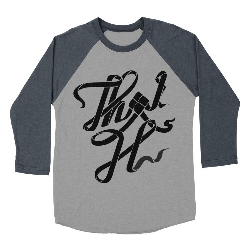 Thai H Men's Baseball Triblend Longsleeve T-Shirt by pugpug's Artist Shop