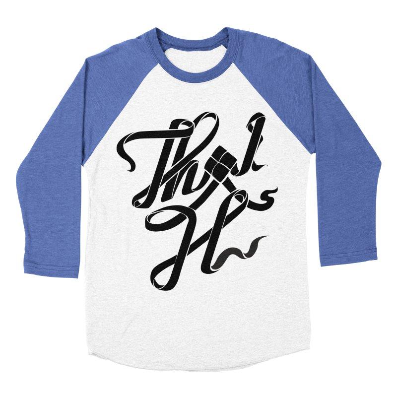 Thai H Men's Baseball Triblend Longsleeve T-Shirt by pugpug's Artist Shop