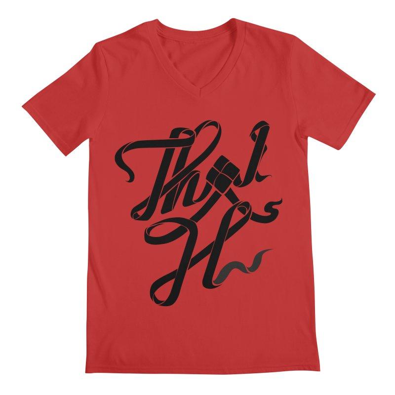 Thai H Men's Regular V-Neck by pugpug's Artist Shop