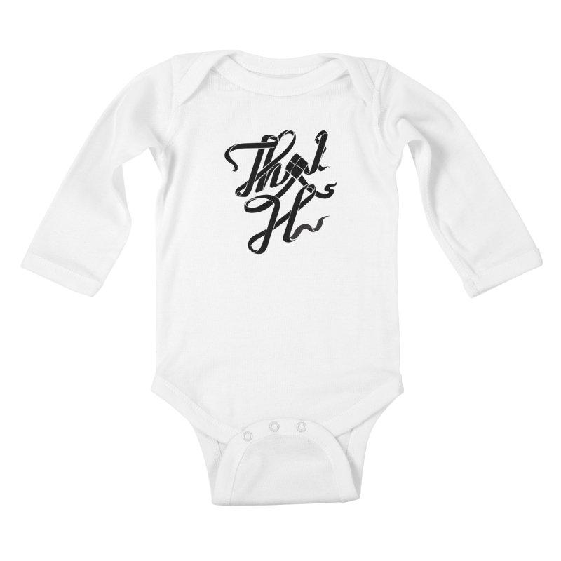 Thai H Kids Baby Longsleeve Bodysuit by pugpug's Artist Shop