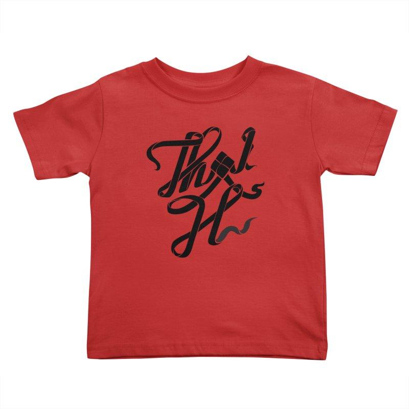 Thai H Kids Toddler T-Shirt by pugpug's Artist Shop