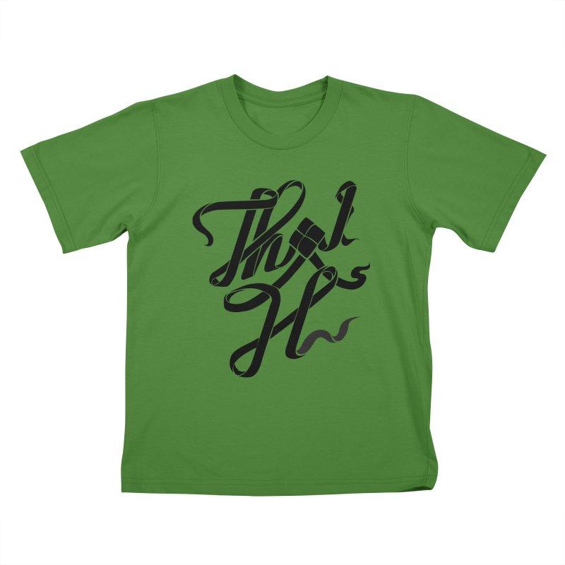Thai H Kids T-shirt by pugpug's Artist Shop