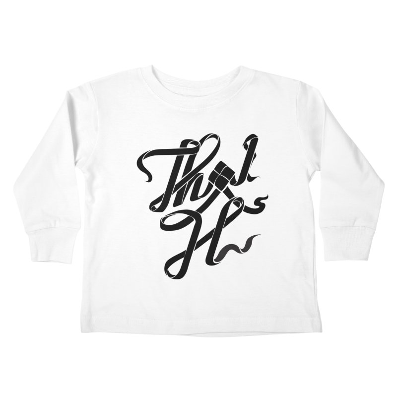 Thai H Kids Toddler Longsleeve T-Shirt by pugpug's Artist Shop