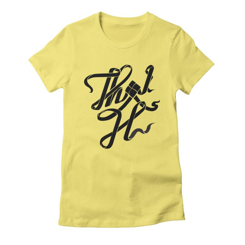 Thai H Women's Fitted T-Shirt by pugpug's Artist Shop