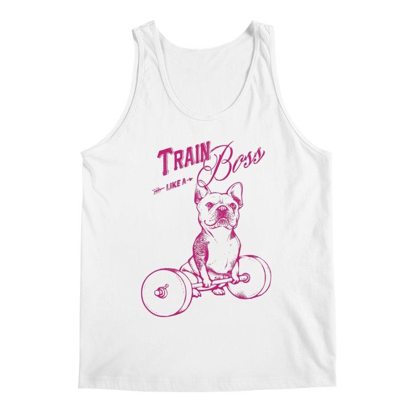 Train Like a Boss Men's Tank by Pugs Gym's Artist Shop