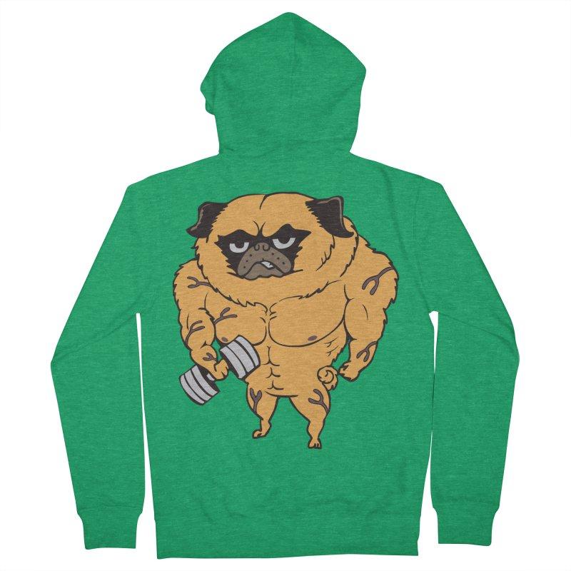 Buff Pug Women's Zip-Up Hoody by Pugs Gym's Artist Shop