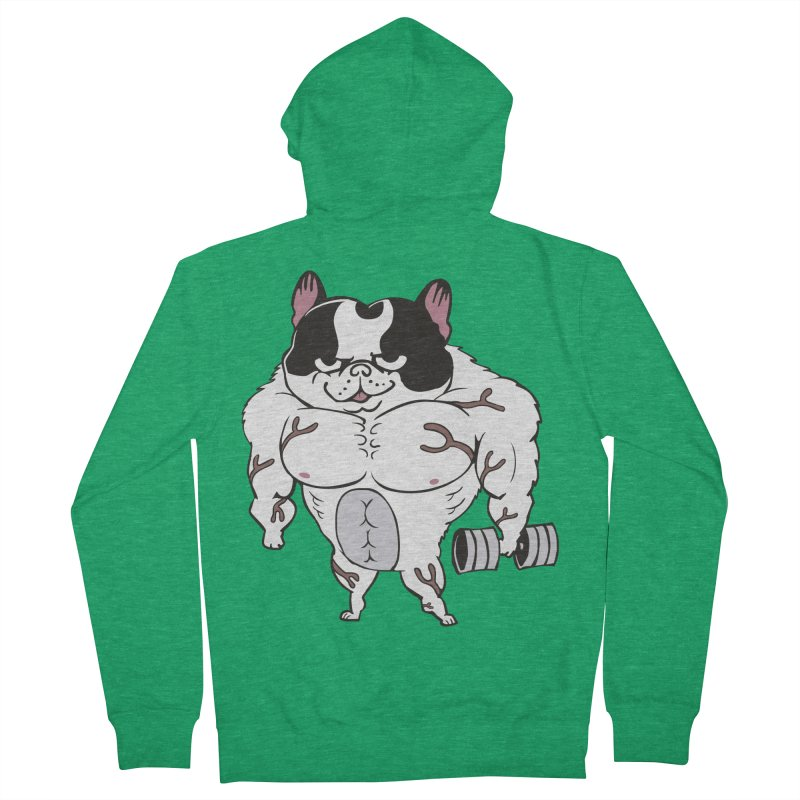 Buff Frenchie Women's Zip-Up Hoody by Pugs Gym's Artist Shop